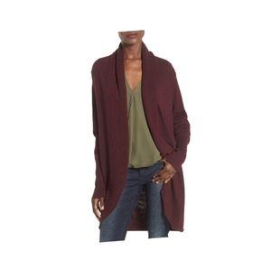 Leith shawl collar cocoon cardigan